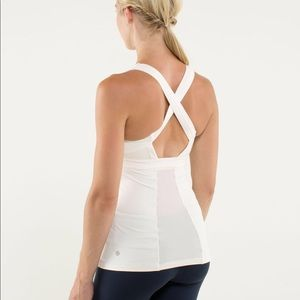 Lululemon mesh cross back stuff your bra tank